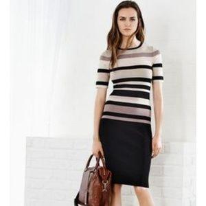 Karen Millen Bodycon Dress Stripe Dress Medium